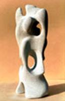 Sculpture en béton cellulaire une création de stagiaire