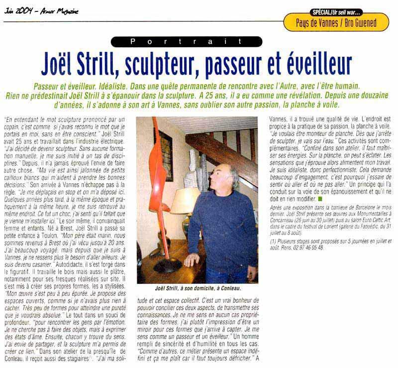 Joël Strill, sculpteur passeur et éveilleur