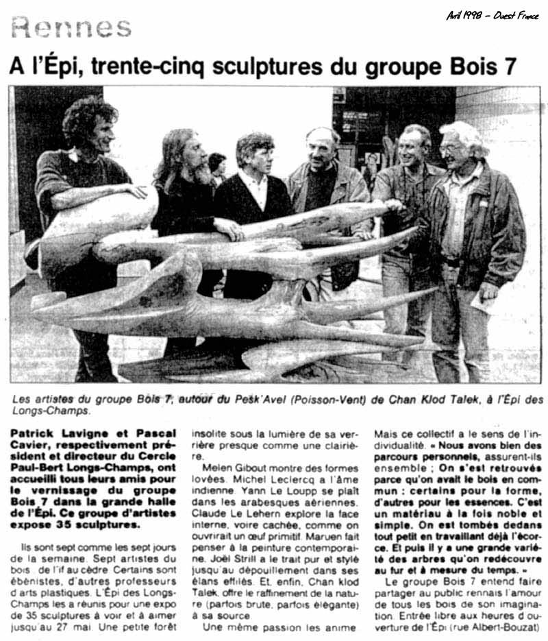 L' Association de sculpteurs Bois 7 à L' EPI Longs-Champs à Rennes