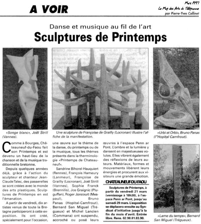 Sculptures de printemps en centre Bretagne, danse et musique au fil de l' art