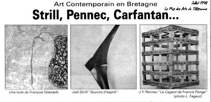 Art contemporain en Bretagne, Articles, Presse