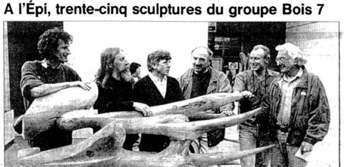 Trente-cinq Sculptures du groupe Bois 7, Articles, Presse