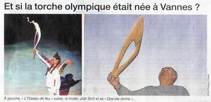 Torche des Jeux Olympiques d' hiver de SOTCHI 2014