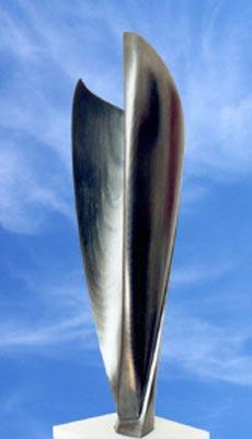Sculpture en Bronze Vif Argent patinée aux oxydes