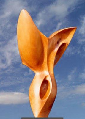 Sculpture Bois Gitane en bois de Poirier de pays ciré