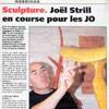 Sculpture Joël Strill en course pour les J.O de Pékin 2008