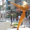 sculpture aux J.O de Pékin 2008 en résine époxy