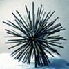 sculpture La Sphère en acier