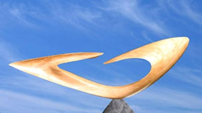 Sculpture Bois Tête à Tête en bois de Platane de pays ciré