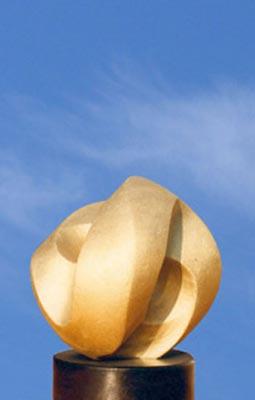 Sculpture Volonté en Marche en Bronze sablé