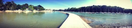 Presqu' Île de Conleau et sa piscine d' eau de mer près de l' Atelier de Sculpture