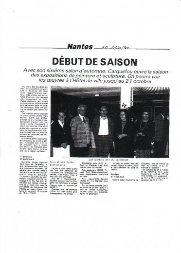 Salon Artistique d' automne à Carquefou