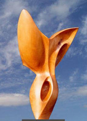 Sculpture Bois Gitane en Poirier de pays ciré