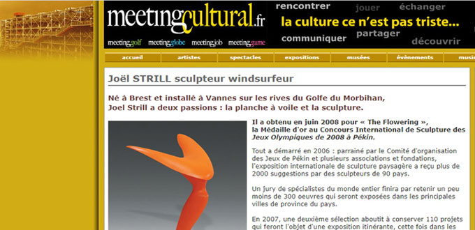 Joël STRILL sculpteur windsurfeur a deux passions, la planche à voile et la sculpture