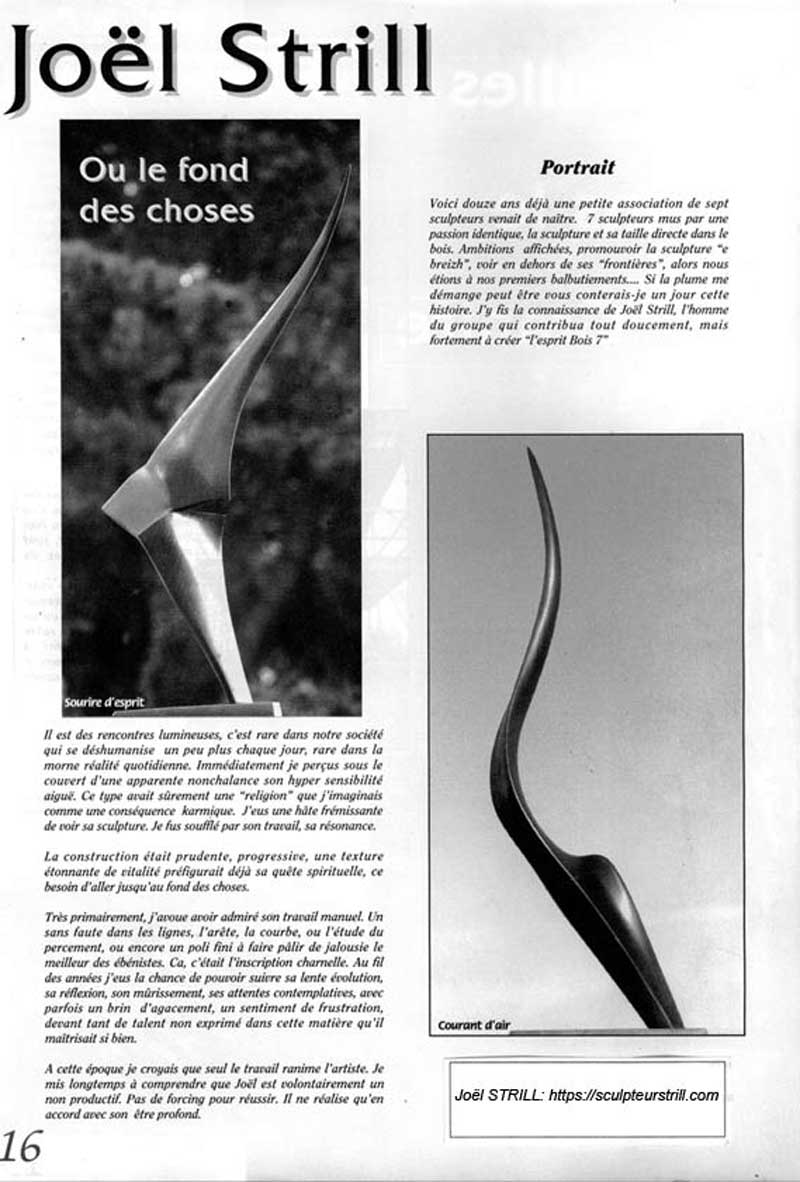 Le Fond des Choses 1 joel strill sculpteur
